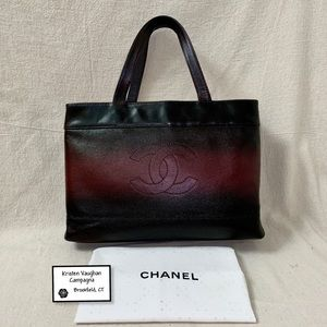 Customized CHANEL Ombré Caviar Timeless Tote